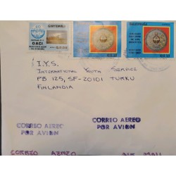A) 1981, GUATEMALA, COVER SHIPPED TO FINLAND, AIRMAIL,