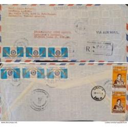 A) 1976, GUATEMALA, ROTARY INTERNATIONAL, FROM RETALHULEU TO TURKU-FINLAND, AIRMAIL
