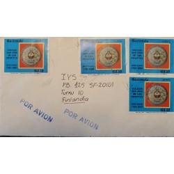 A) 1981, GUATEMALA, SAN JOSE DE LOS INFANTES BICENTENARY SCHOOL, COVER SHIPPED TO FINLAND, AIRMAIL, XF
