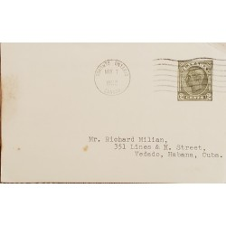 A) 1952, CANADA, KING JORGE V, FROM TORONTO TO VEDADO – CARIBBEAN, WITH CANCELLATION, XF