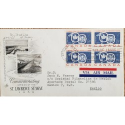 A) 1959, CANADA, MARITIME ROUTE THROUGH THE SAN LORENZO RIVER. JOINT WITH THE UNITED STATES