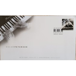A) 2005, CANADA, MUSIC, MONTREAL, FDC, OSCAR PETERSON JAZZ COMPOSER AND PIANIST, XF