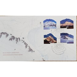 A) 2002, CANADA, MOUTAINS, FDC, MOUNT LOGAN CANADA 5.959m, MOUNT MCKINLEY 6.194m