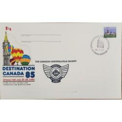 A) 1985, CANADA, PARLIAMENT BUILDINGS, OTTAWA, THE CANADIAN AEROPHILATELIC SOCIETY, XF