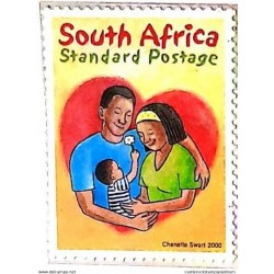 A) 2000, SOUTH AFRICA, NATIONAL FAMILY DAY, CHENETTE SWART, STANDARD POSTAGE, MULTICOLORED