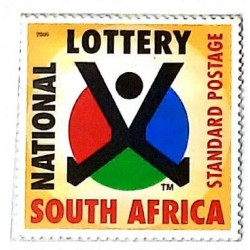 A) 2000, SOUTH AFRICA, DRAW FOR THE FIRST NATIONAL LOTTERY, STANDARD POSTAGE, MULTICOLORED, XF