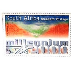 A) 2000, SOUTH AFRICA, NEW MILLENIUM, STANDARD POSTAGE, MULTICOLORED