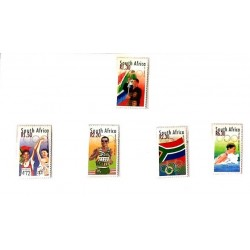 A) 2000, SOUTH AFRICA, SIDNEY OLYMPIC GAMES, FLAG, WINNERS, ATHLETICS, NATIONAL FLAG AND OLYMPIC RINGS, SWIMMING