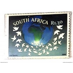 A) 2000, SOUTH AFRICA, INTERNATIONAL YEAR OF PEACE, MULTICOLORED, XF