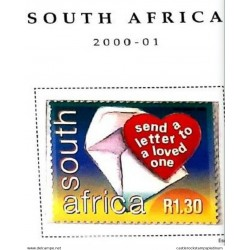 A) 2000, SOUTH AFRICA, POST MAIL, WORLD POST DAY, MULTICOLORED, XF