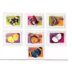 A) 2001, SOUTH AFRICA, COLLECTIOS OF BUTTERFLIES, ACRAEA CETES ACARA