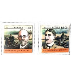 A) 2001, SOUTH AFRICA, ANGLO BÓER WAR, CENTENARY, SERIE, DOMINEE J. D. KESTELL, THOMAS CREAN, MULTICOLORED
