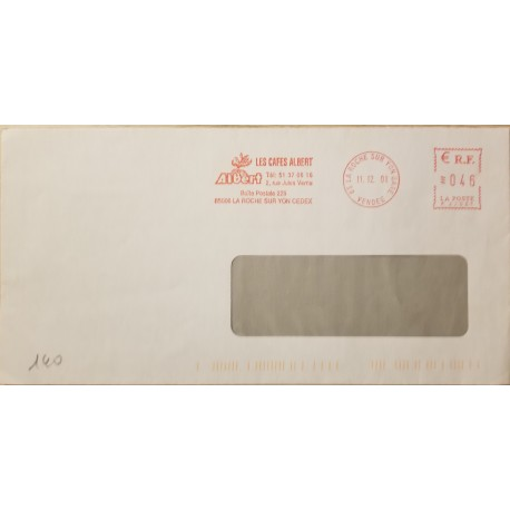 J) 1981 FRANCE, METTER STAMPS, AIRMAIL, CIRCULATED COVER, FROM FRANCE