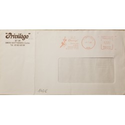 J) 1993 FRANCE, WITH SLOGAN CANCELLATION, PRIVILEGE, METTER STAMPS, AIRMAIL