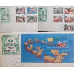 A) 1981, ANGUILLA, CHRISTMAS. CHRISTMAS EVE, FDC, DISNEY, CHILDREN SLEEPING