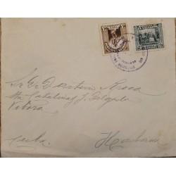 A) 1932, EL SALVADOR, CONSPIRACY OF 1811, LETTER SENT FROM SAN SALVADOR TO HAVANA, INDIGENOUS STAMP