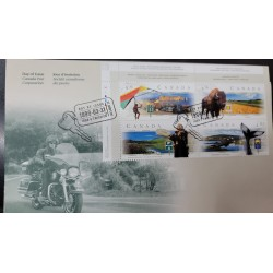 A) 1999, CANADA, CANADIAN PANORAMIC ROUTES: FDC, RTA 132, QUEBEC ALA DELTA