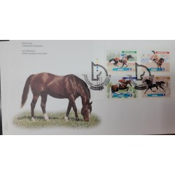 A) 1999, CANADA, FAMOUS HORSES, FDC, NORTHERN DANCER - FLAT RACES, KINGSWAY SKOAL - RODEO