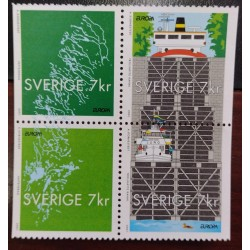 L) 2001 SWEDEN, WATERWAYS AND SHIPS, BOAT, GREEN, MNH