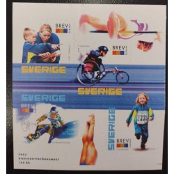 L) 2003 SWEDEN, PARALYMPIC GAMES, SWIMMING, ATHLETICS, CHILD, PEOPLE, MNH