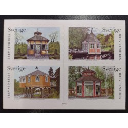 L) 2003 SWEDEN, ARCHITECTURE, HOME, PALM, TREE, NATURE, BLOCK OF 4, MNH