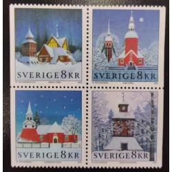 L) 2002 SWEDEN, ARCHITECTURE, CHRISTMAS, WINTER, COTTAGE, MNH