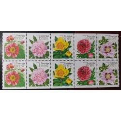 L) 2001 SWEDEN, FLOWERS, NATURE, FLORA, BLOCK OF 10, MNH