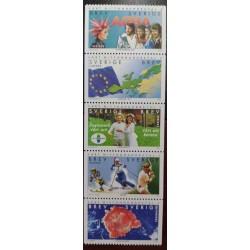 L) 200 SWEDEN, MAP, FLAG, PEOPLE, MUSICAL GROUP, EMBIO, FETUS, SPORT, TENNIS, MNH