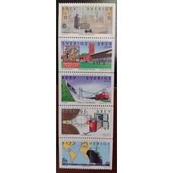 L) 1998 SWEDEN, TRAIN, RAILWAY, INDUSTRIES, BOAT, MAP, OLYMPIC STADIUM, MNH
