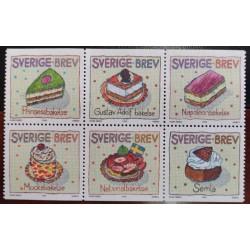L) 1998 SWEDEN, CAKE, SWEET, DESSERT, PAINTING, MNH