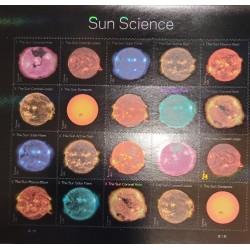 J) 2021 UNITED STATES, SOLAR SCIENCE, CORONAL HOLE OF THE SUN, SUNSPOTS, SOLAR PLASMA EXPLOSION, ADHESIVE STICKER, XF