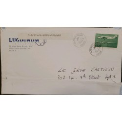 J) 2010 FRANCE, AIRPLANE, AIRMAIL, CIRCUATED COVER, FROM FRANCE TO USA