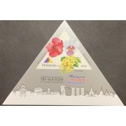 J) 2013 MALAYSIA, FLOWERS, TRIANGLE, XF