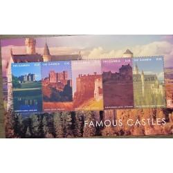 J) 1998 GAMBIA, FAMOUS CASTLES, SOUVENIR SHEET, XF