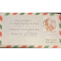 A) 1980 MEXICO, LETTER TO SPAIN, JULIO VERNE, AIRMAIL, XF