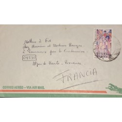 A) 1971, MEXICO, SIMON BOLIVAR, INDEPENDENCIA, LETTER TO FRANCE, AIRMAIL, XF