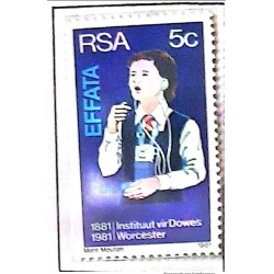 A) 1981, SOUTH AFRICA, CENTENARY OF WORCESTER INSTITUTIONS FOR THE DEAF AND BLIND, MNH