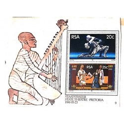 A) 1981, SOUTH AFRICA, INAUGURATION OF THE NATIONAL THEATER OF PRETORIA BALLER RAKA, OPERA AIDA, MINISHEET
