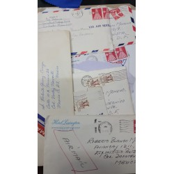A) 1971-76, UNITED STATES, LOT OF LETTERS SENT TO MEXICO, WITH CANCELLATIONS, XF