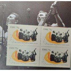 A) 2006, IRELAND, MUSIC, CLANCY BROTHERS AND T. MAKEM, 1960s, GUITAR, MINISHEET