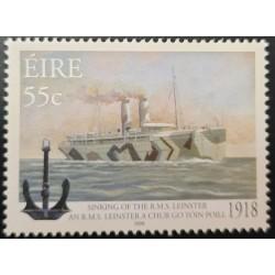 A) 2008, IRELAND, SINKING OF THE POTAL SHIP R.M.S. LEINSTER 1918, SHIPWRECK, VAPORS, MNH
