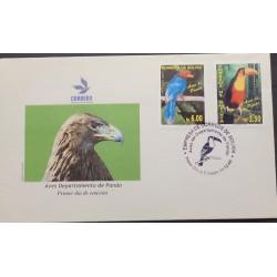 L) 2006 BOLIVIA, PANDO, TUCAN, BLUE BIRD, FAUNA, NATURE, FDC