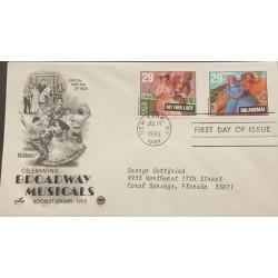 SL) 1993 USA, CELEBRATING BROADWAY MUSICALS, MY BEAUTIFUL LADY, FDC, CIRCULATED