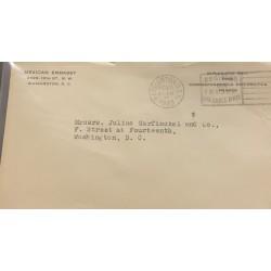 SL) 1933 USA, OFFICIAL CONSULAR CORRESPONDENCE, CIRCULATED TO WASHINGTON.
