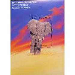 SL) TANZANIA, ELEPHANT, FAUNA, ANIMALS OF AFRICA, BEAUTIFUL COLORS, MNH
