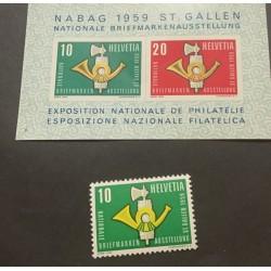 SL) 1959 SWITZERLAND, NATIONAL EXHIBITION OF PHILATELIA, MNH