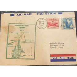 SL) 1954 USA, AIR MAIL, AIRPLANE, EAGLE, OIL INDUSTRY, CIRCULATED LETTER FROM USA TO CARIBBEAN