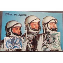 A) 1962 TOGO, ASTRONAUTS, SPACE, ALAN SHEPARD, 1923 - 1998, MAN IN SPACE