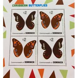 SA) 2013 DOMINICA, CARIBBEAN, BUTTERFLIES, MINISHEET, MNH