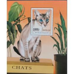 SA) 1997 TOGO, PERSIAN CAT, KEEPSAKE SHEET, MNH, SC 1763